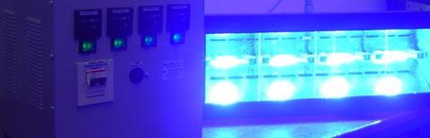 lampada uv ultravioletta incollaggio vetro ,  polimerizzazione ,  collanti ,  vernici , controlli non distruttivi