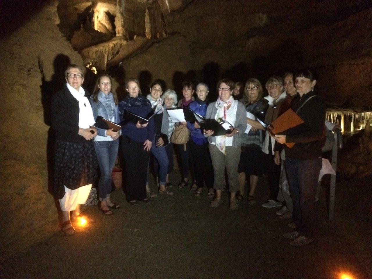 Chorale des Dames de choeur - Grotte de Tourtoirac