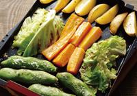 プレートパン調理例:野菜のグリル