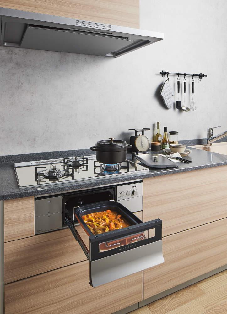 煮る、蒸す、炊く、に加え燻製や低温調理までも可能にしました