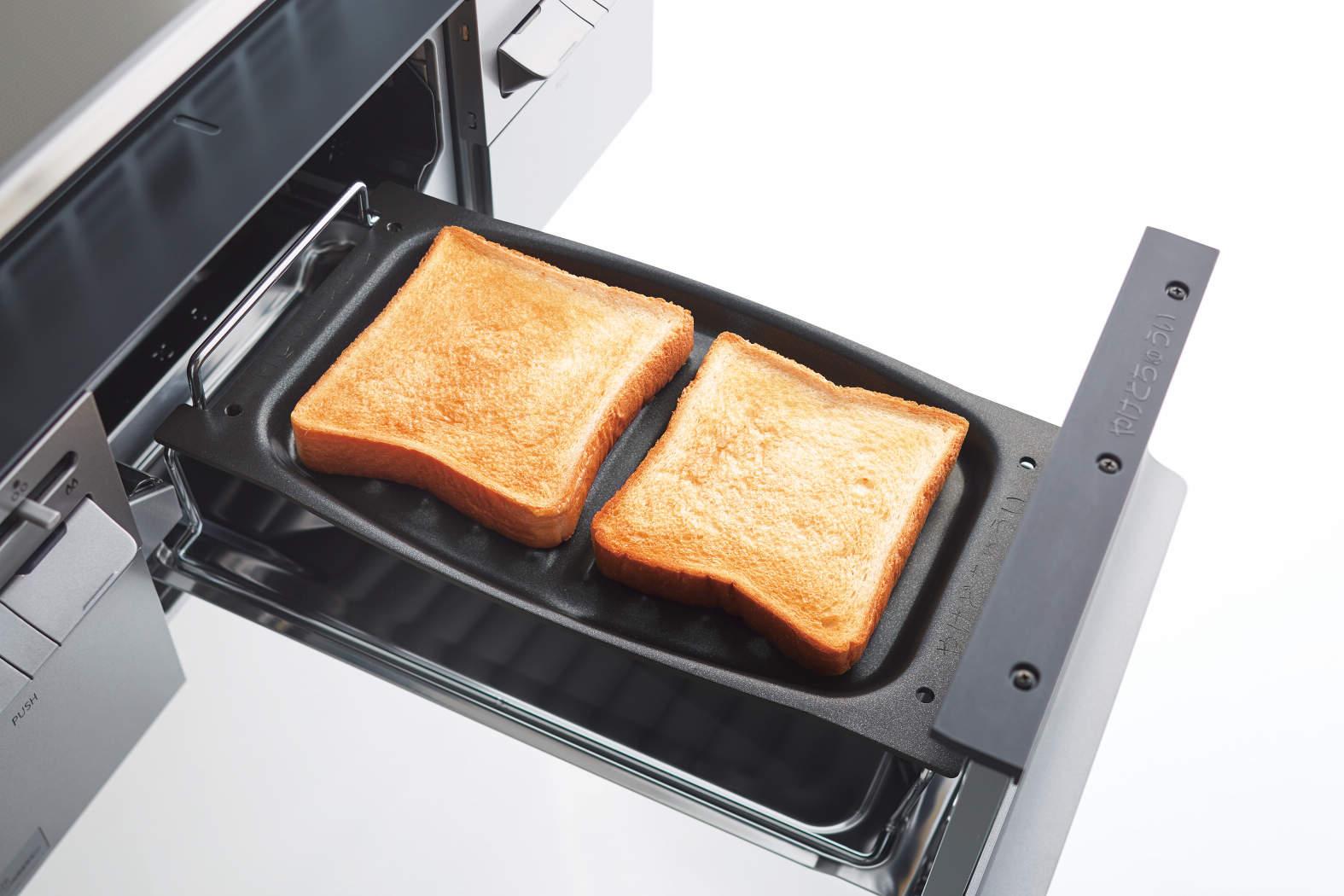 オプションの波型プレートでトースト調理例