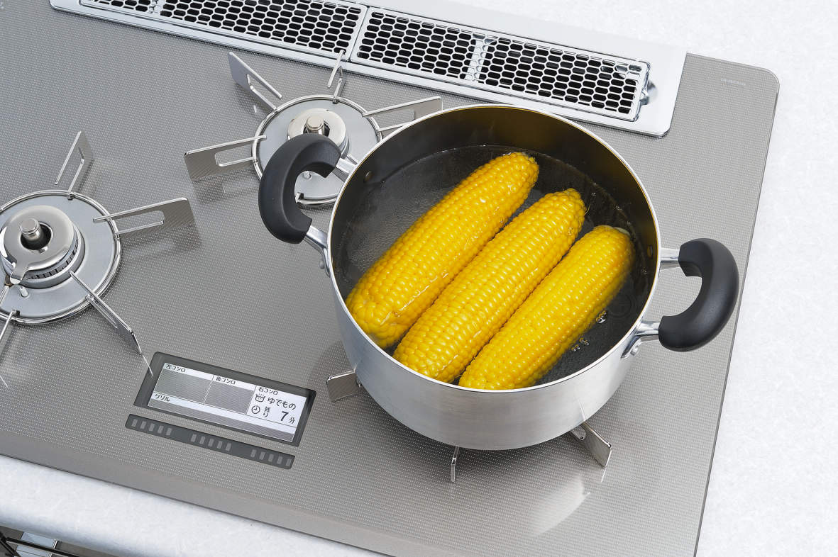 「ゆでもの機能」吹きこぼれ・焦げ付きを抑えたタイマー調理ができます