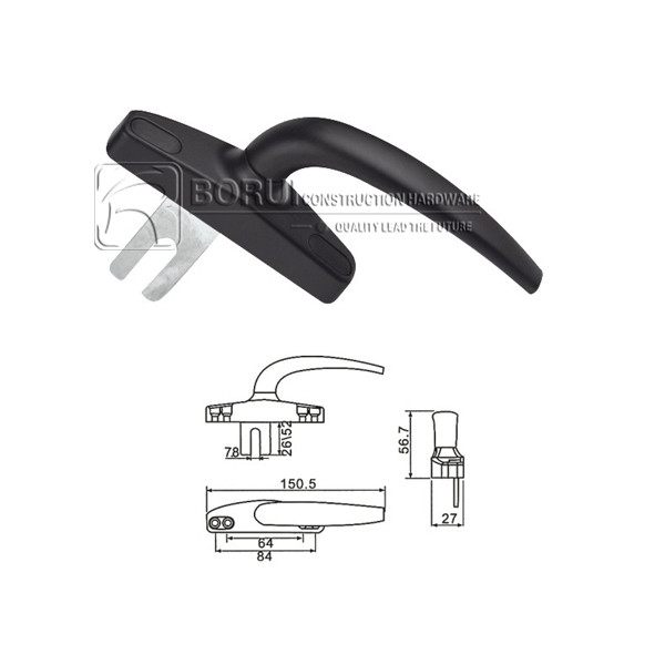 BR.1034 Aluminium Window Handle