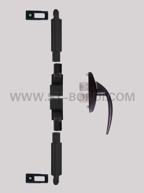 BR.107 Aluminium Casement Window Lock, Cremone Bolt with Handle