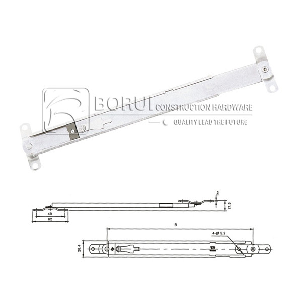 BR.SC20 Window Restrictor Arm for Top Hung Casement Window