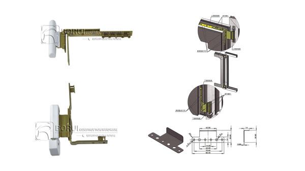 BR.888 PVC Casement Door and Window Hinge,Corner Side Hinge
