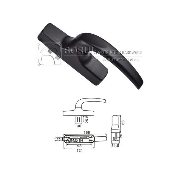 BR.1025 Aluminium Door and Window Handle, Cremone Bolt Handle