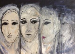 OT, Acryl auf Leinwand, 70 x 100 cm, in Privatbesitz