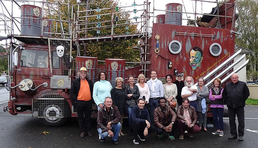 Le groupe des artistes sculpteurs - Bréville-sur-Mer 2018