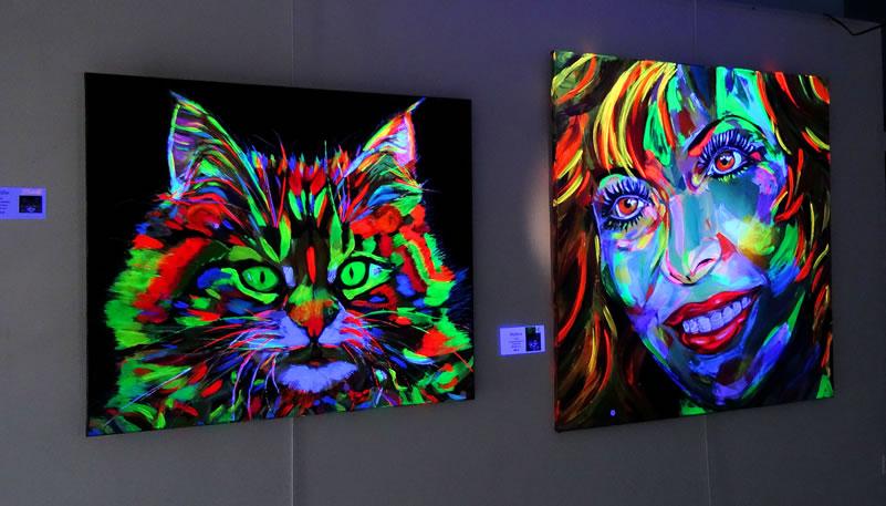 Photo - Accueil de l'exposition, œuvres de Brigitte VAUR (invitée d'honneur)