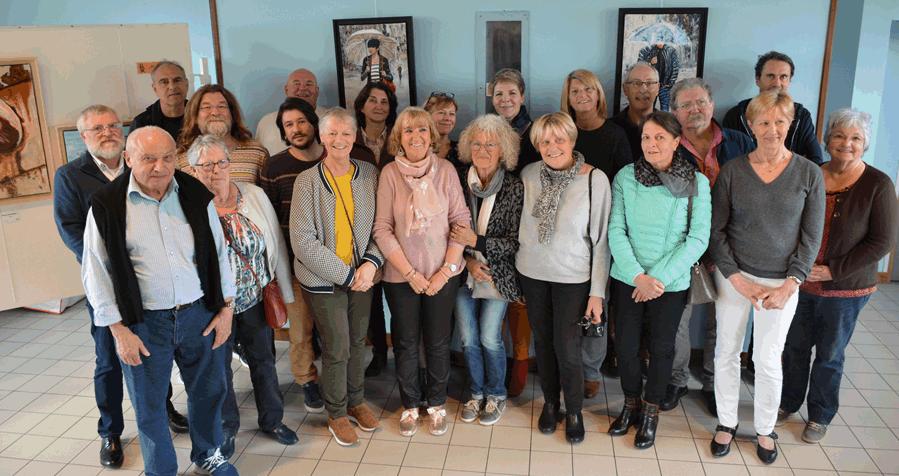 Photo - Le groupe des artistes peintres 2019