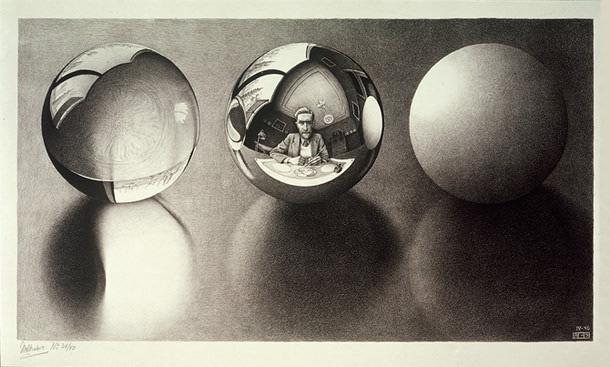 MC Escher, Three Spheres