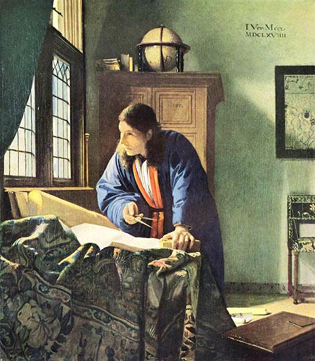Vermeer, Der Geograph
