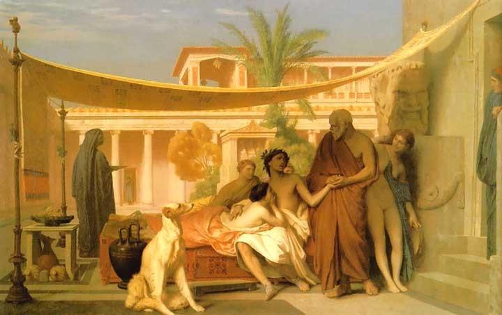 Aspasia, Alkibiades und Sokrates