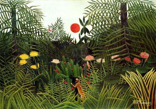 Rousseau, Negre attaque par un jaguar (1910)