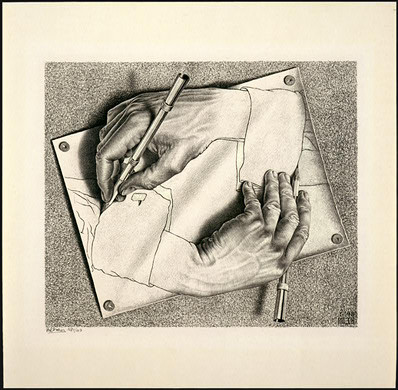 M.C.Escher, Writing Hands