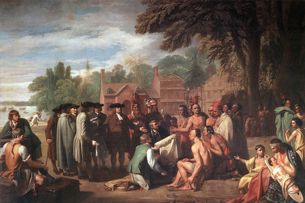 Benjamin West, The treaty of William Penn with the Indians