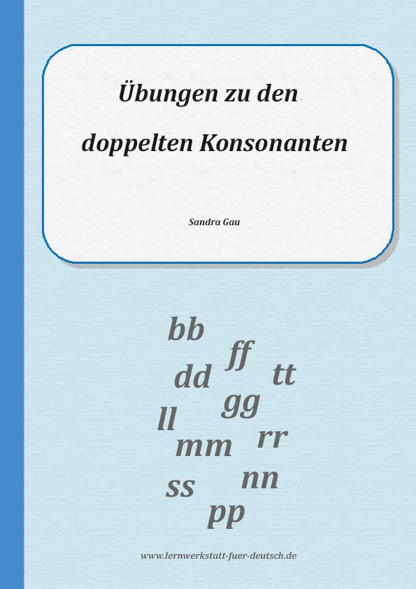 Doppelte Konsonanten üben - Lernwerkstatt für Deutsch