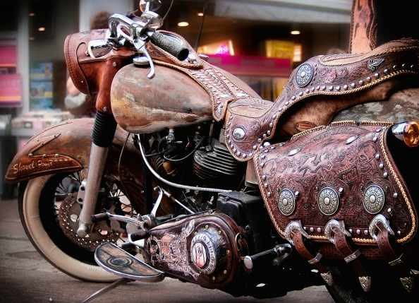 Rusted Steel and Painted Leather... leatherworks.de Promo Bike