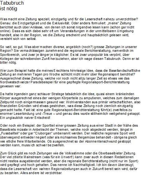 Kolumne November 2010, erschien nie, Redaktion Volksstimme hatte Bedenken... (kein weiterer Kommentar)