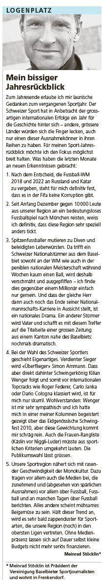 Volksstimme, 30.12.2010