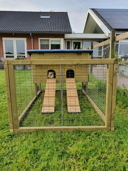 Nieuw verblijf voor konijn Geertje!