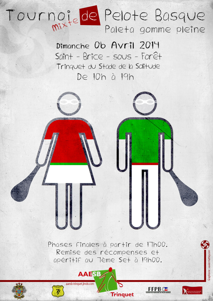 Affiche Tournoi mixte à pala 6 avril 2014