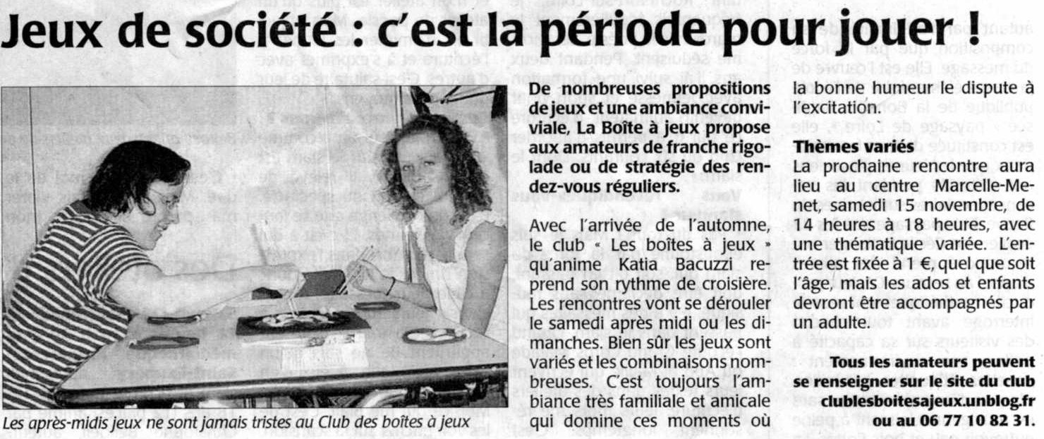 journal Courrier de l'Ouest nov.2008