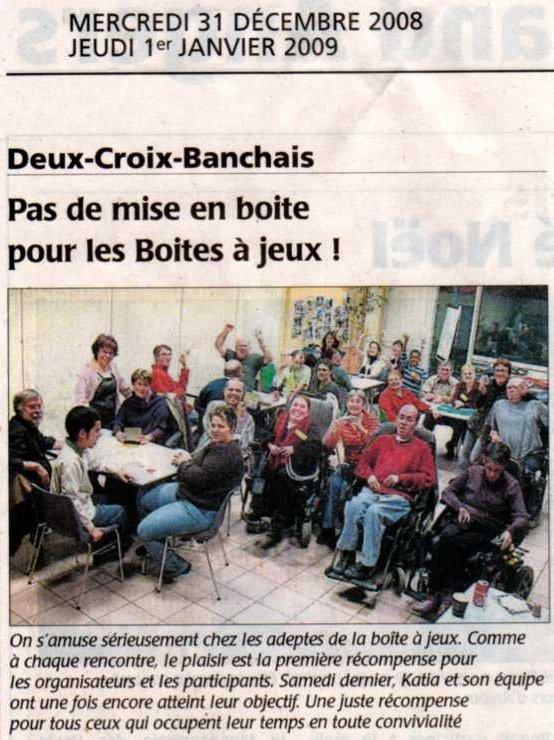 journal Courrier de l'Ouest janv.2009