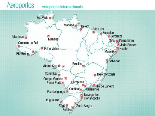 flughäfen brasilien karte Info Schulferien 2019/20, Flughäfen Brasil   Walter Vassel Brasil