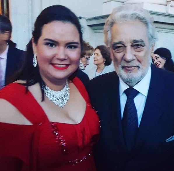 Mariángeles Gómez y Plácido Domingo