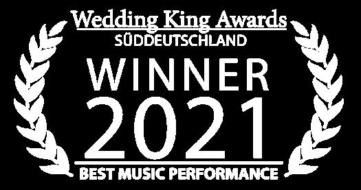 Auszeichnung für Hochzeitssängerin Juli für Best Music Performance
