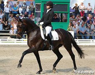 Fiderallala von Fidertanz 2014 in Verden. Sieg in der Einlaufprüfung der 6.jähr. Dressurpferde