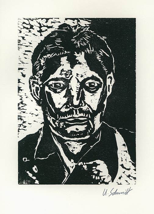 """""""Matthias"""", 2015, Holzschnitt auf Papier, 30 cm x 40 cm"""