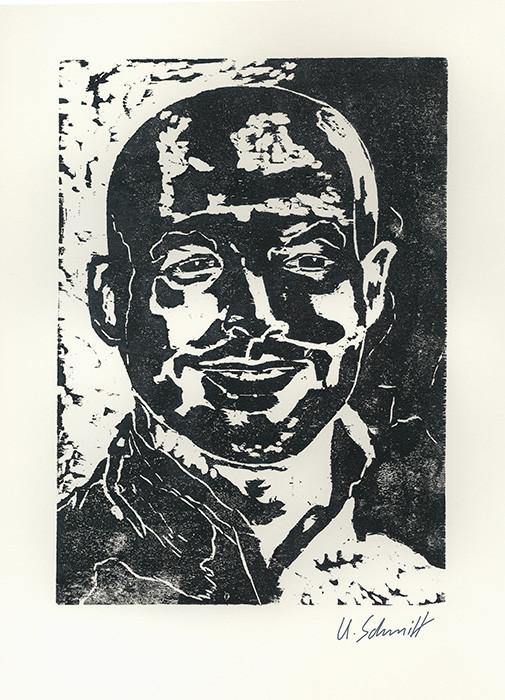 """""""Florian"""", 2015, Holzschnitt auf Papier, 30 cm x 40 cm"""