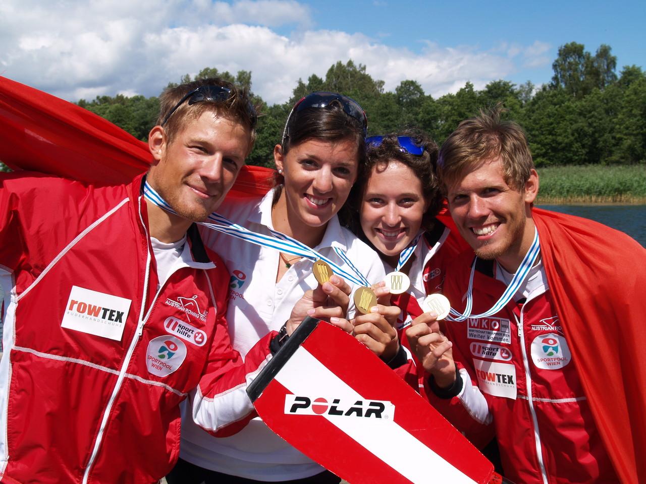 Die Sieber Brothers und Magdalena Lobnig/Lisa Fahrthofer feiern ihre U23-Weltmeistertitel
