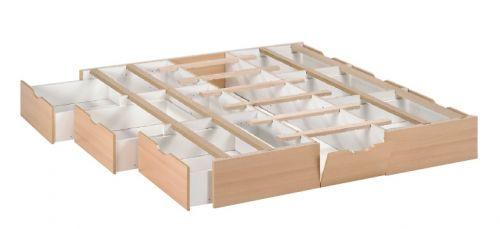 sechs Schubladen für Wasserbett