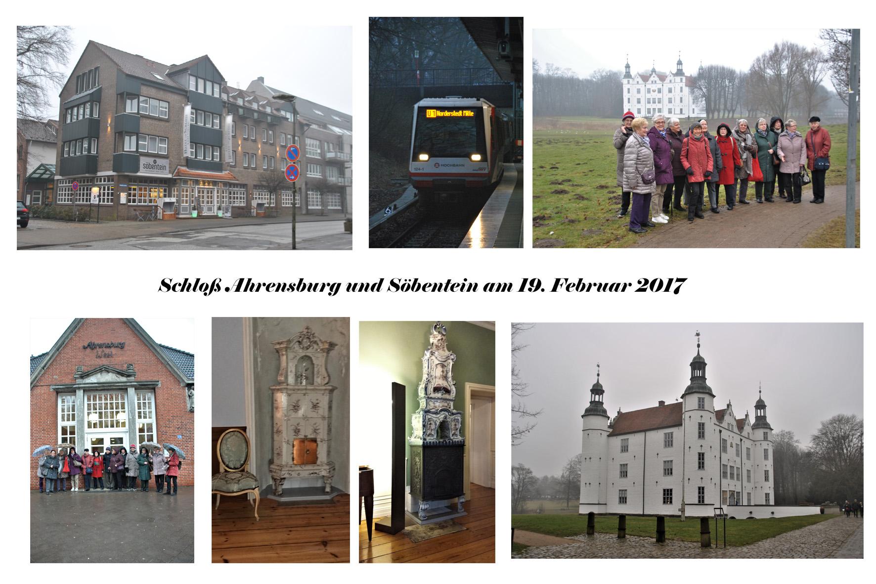 NeNo/Glashütte 2: Schloss Ahrensburg und Söbentein, 19.02.2017 (Fotos: Tom)