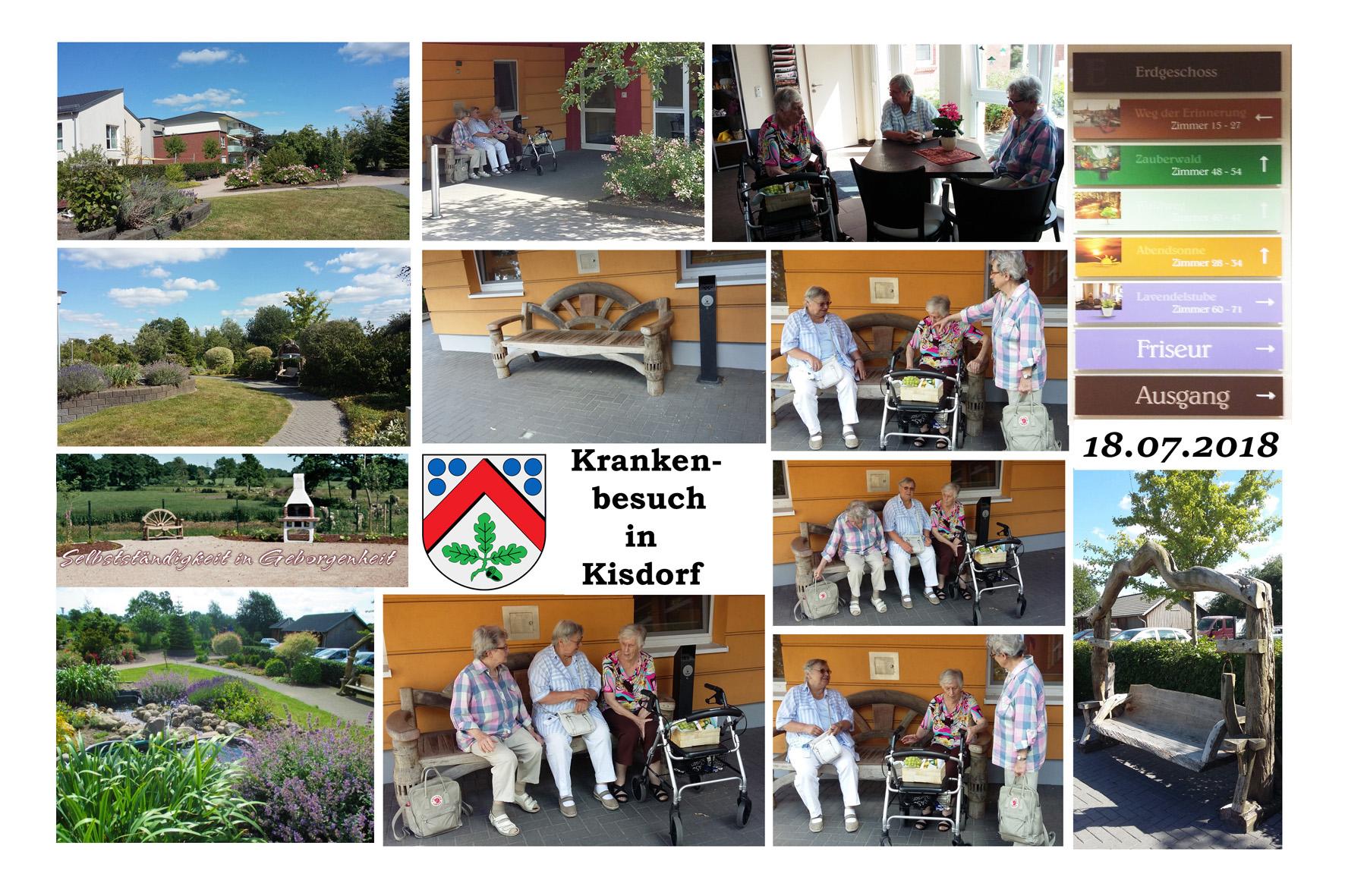 NeNo/Glashütte 2: Krankenbesuch in Kisdorf, 18.07.2018 (Fotos: Tom)