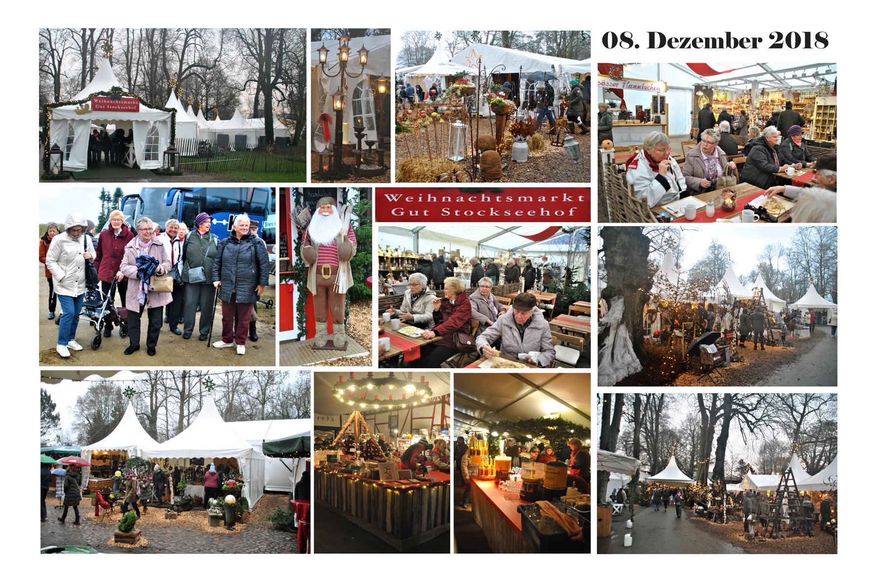 NeNo/Glashütte 2: Weihnachtsmarkt auf Gut Stockseehof, Stocksee Krs. Plön, 08.12.2018 (Fotos: Tom)