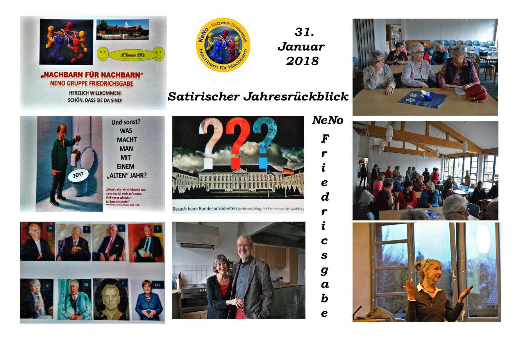 NeNo/Glashütte 2: Zu Besuch bei der NeNo-Gruppe Friedrichsgabe zum satirischen Jahresrückblick 2017, 31.01.2018 (Fotos: Tom)