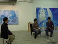 (今年1月、blogでも掲載された小川格さんのアーティストトークの写真。)