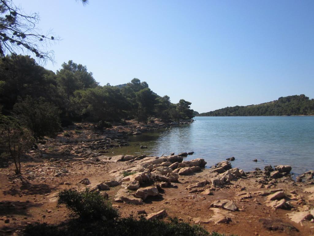 il lago (salato) Mir - baia di Telascica - crociera Croazia isole Kornati