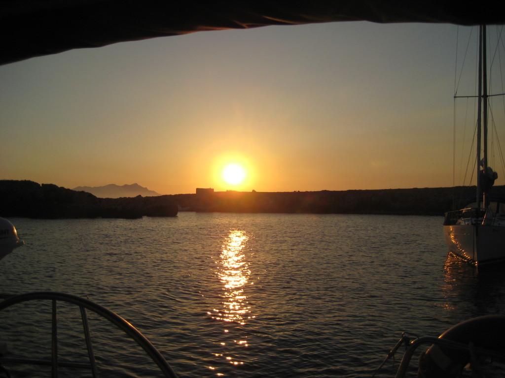 Il tramonto a Cala Rotonda-Favignana