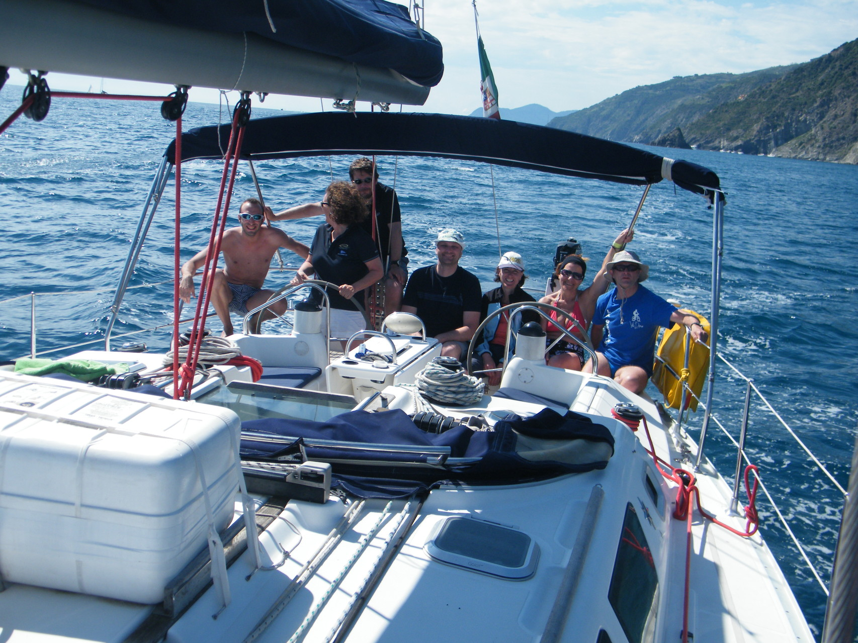 equipaggio Scuola di Vela Week End Cinque Terre Liguria