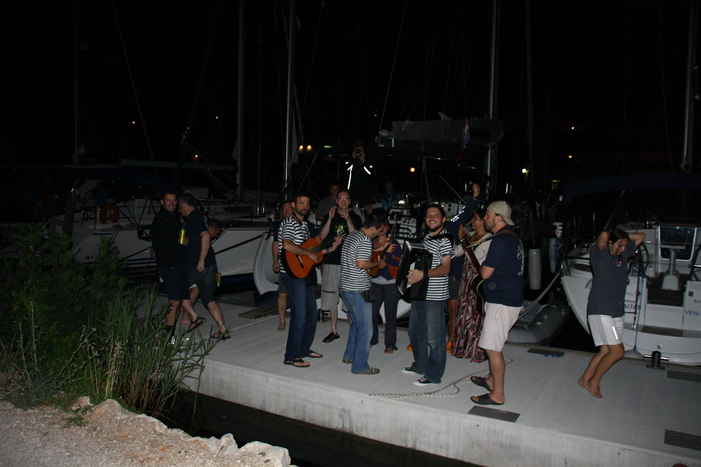 festa in Marina ACI a Skradin - crociera Croazia isole Kornati