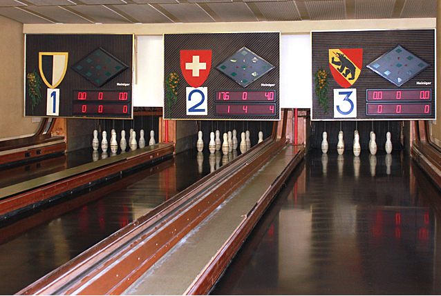 Kegelbahn im National Burgdorf