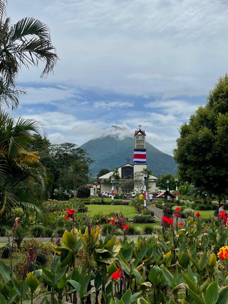 Parque central de La Fortuna