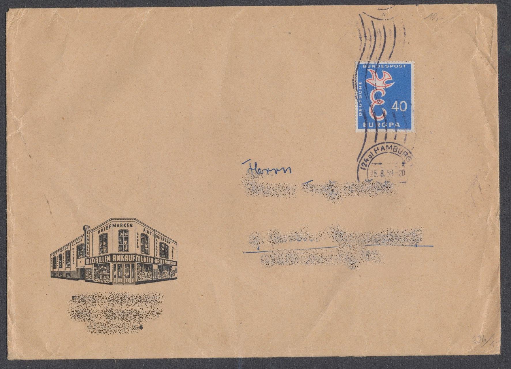 Briefmarken 1958 Bundesrepublik Deutschland Briefmarkenshop Und