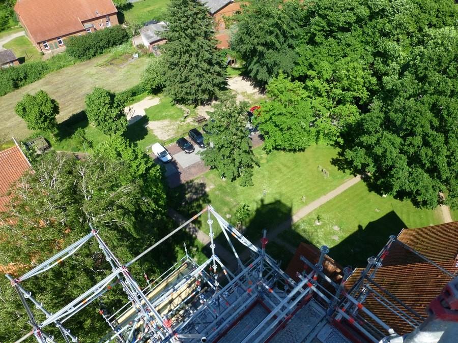 2014-05-30 Gerüstbesteigung mit einmaligen Aussichten  /Foto: P.Lüneburg